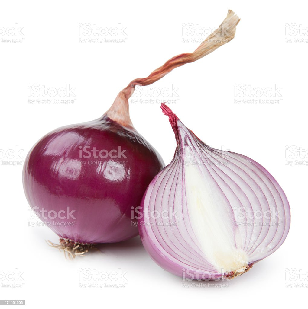 onion isolated on white background stock photo
