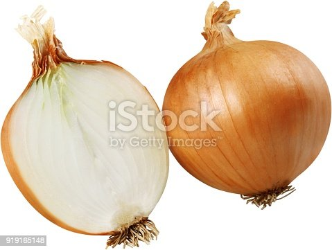 Vidalia onion cut in half