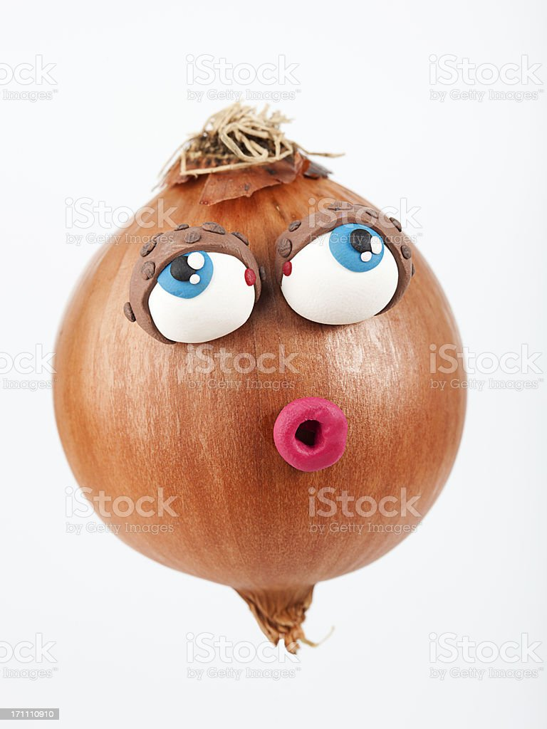 Onion portrait royalty-free stock photo