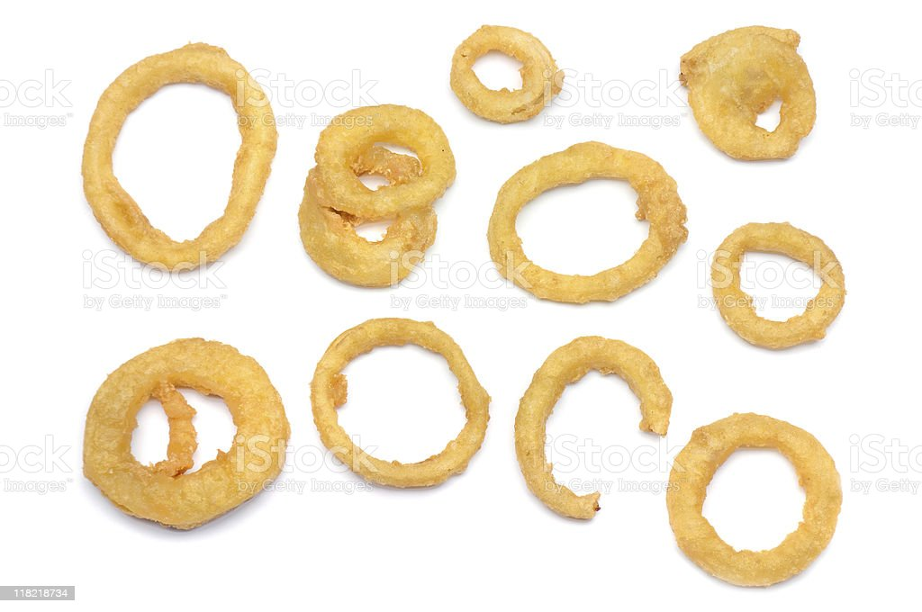 Onion Ring Samples stock photo