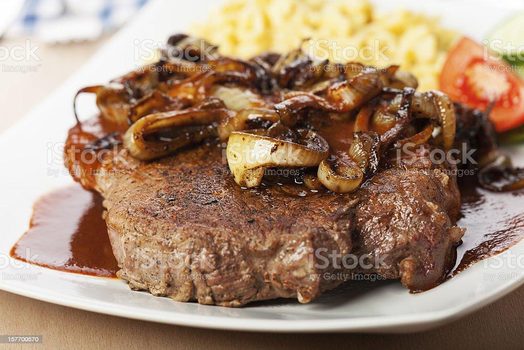 onion roast beef stock photo