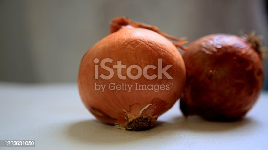 salvador, bahia / brazil - may 08, 2020: onions are seen in the city of Salvador.
