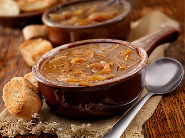 sopa de cebola - sopa de cebola  - fotografias e filmes do acervo