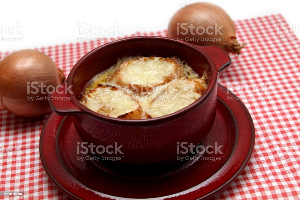 Zwiebelsuppe stock photo