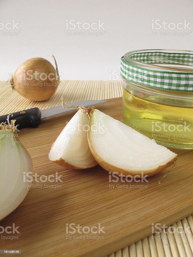 Onion syrup stock photo