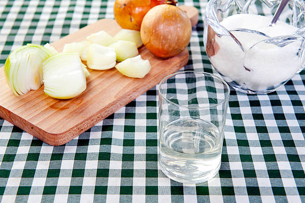 onion syrup - onion juice stock photos and pictures