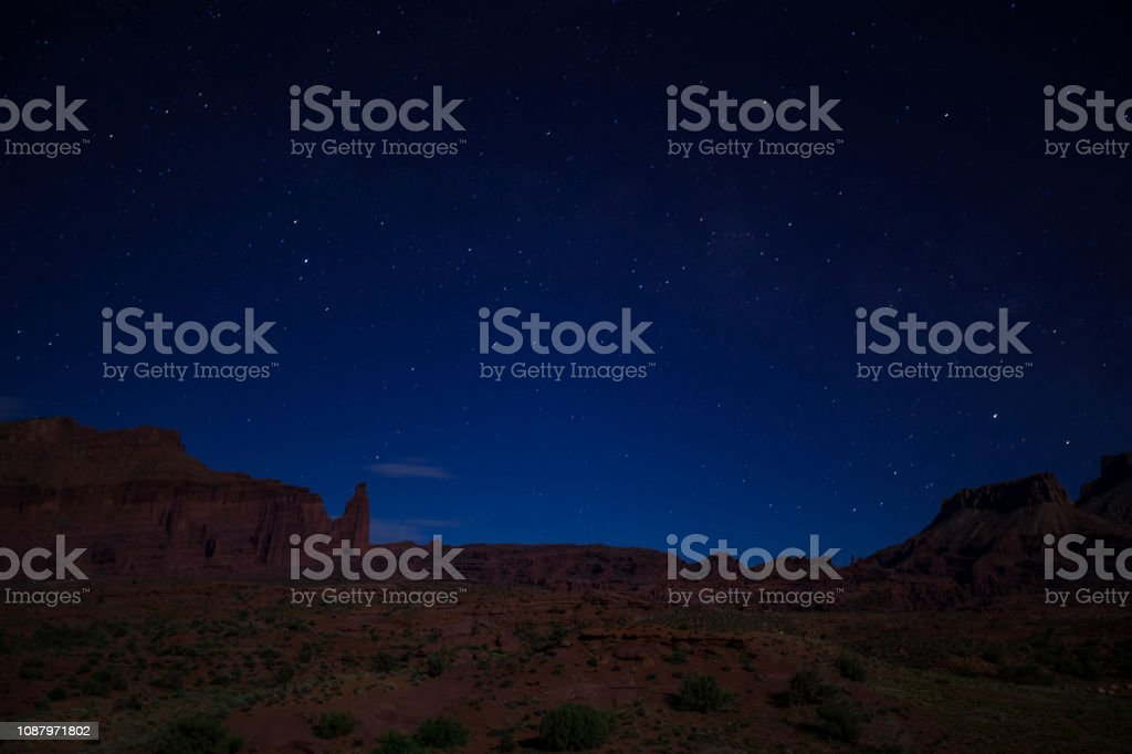 Onion Valley, Utah - Night stock photo