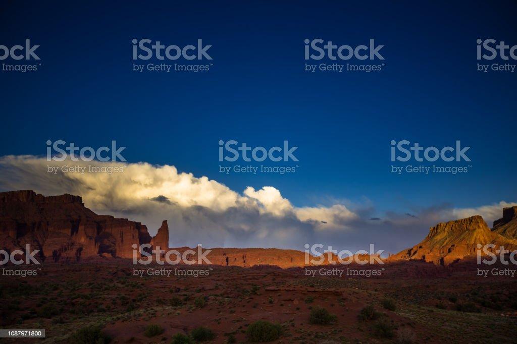 Onion Valley, Utah - Sunset stock photo