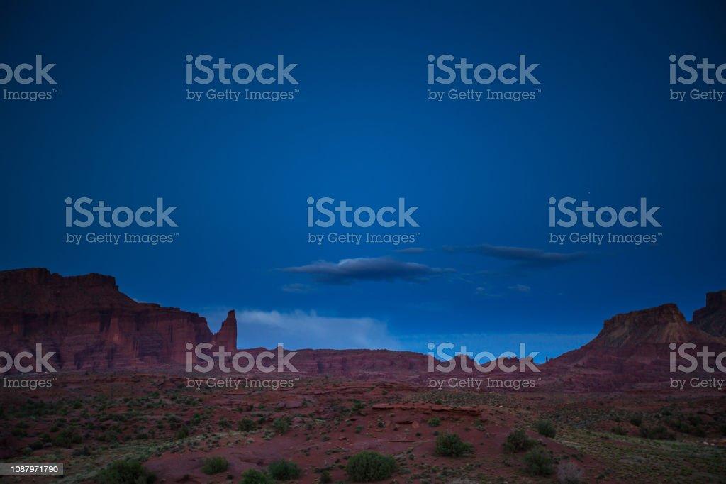 Onion Valley, Utah - Twilight stock photo