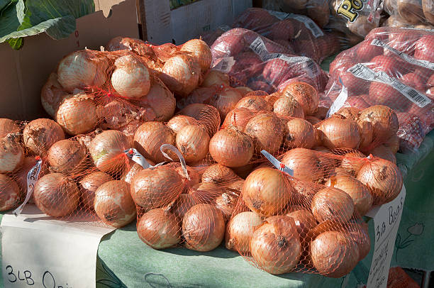 Onions and Apples stock photo