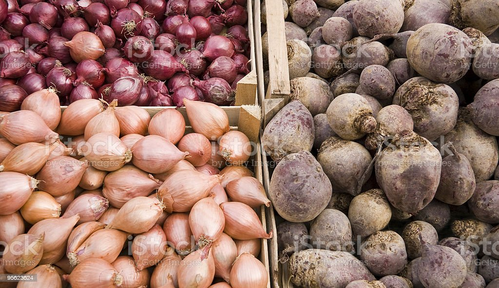 onions and potatoes royalty-free stock photo