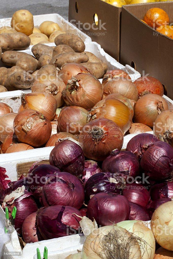 Onions and Potatos royalty-free stock photo