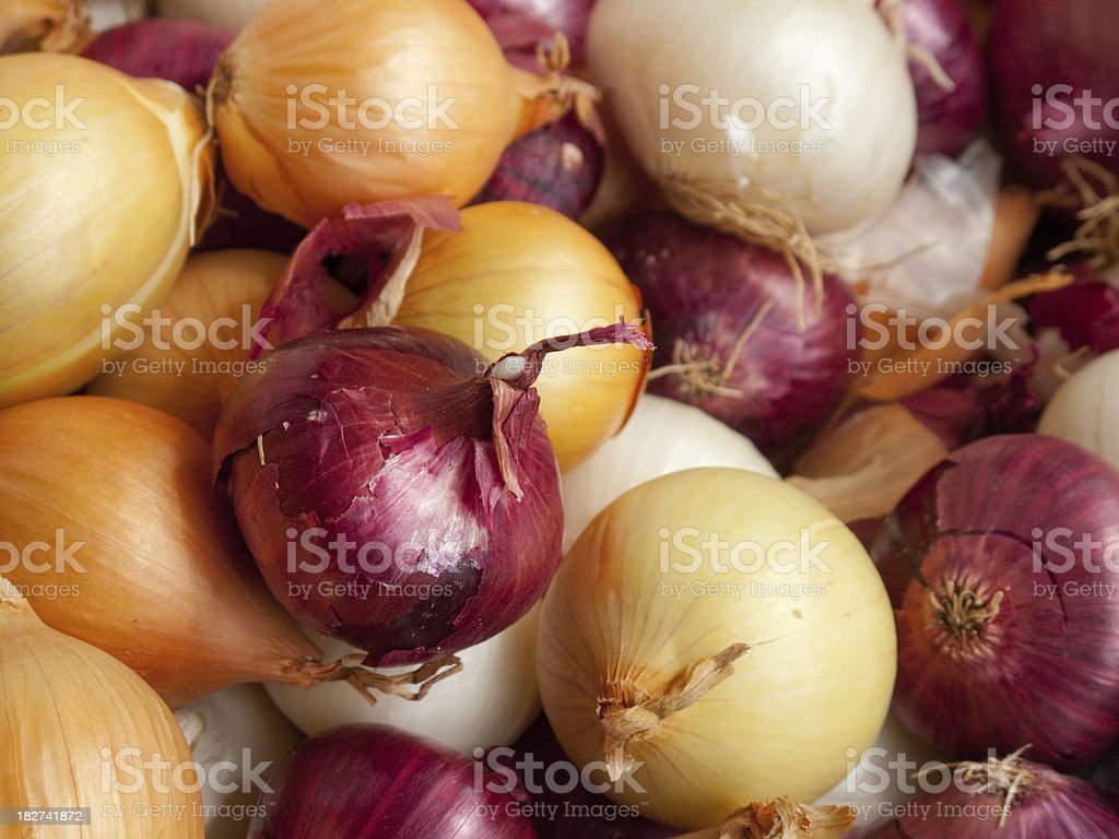 Onions for Sale stock photo