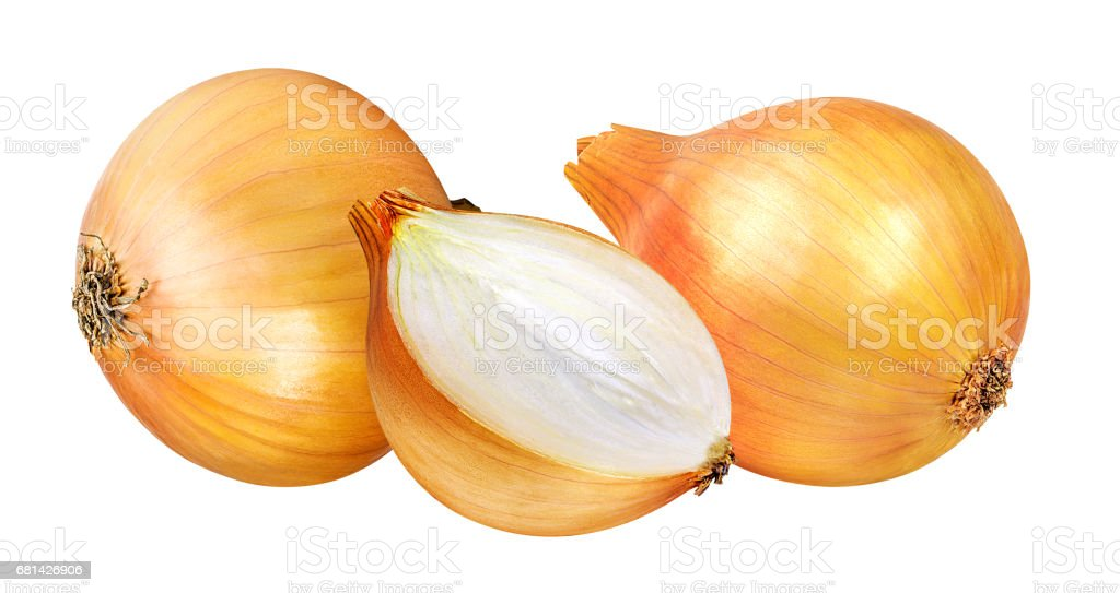 onions isolated on a white royalty-free stock photo
