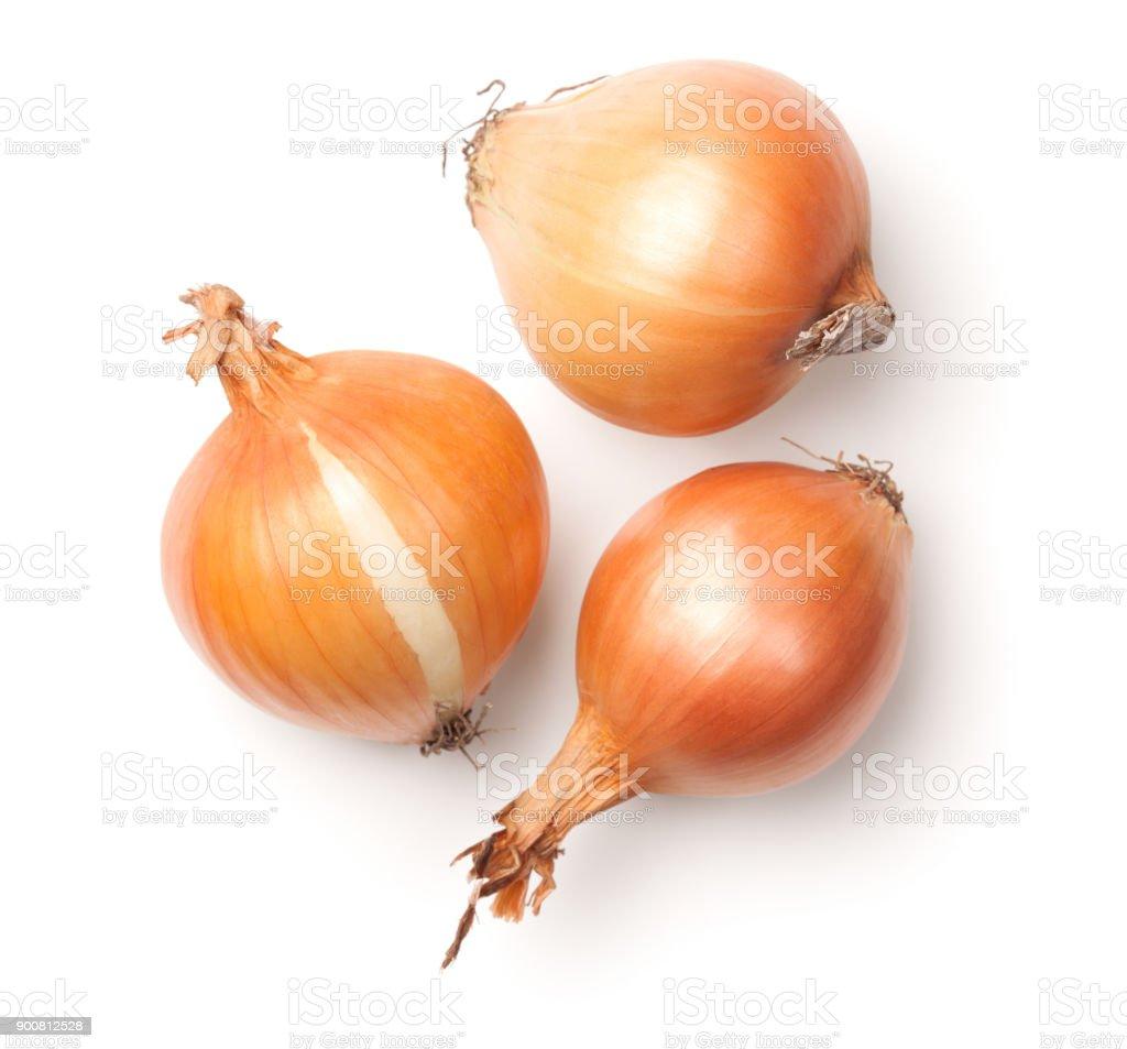 白色背景下的洋蔥 - 免版稅一組物體圖庫照片