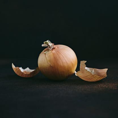 Onions on dark background