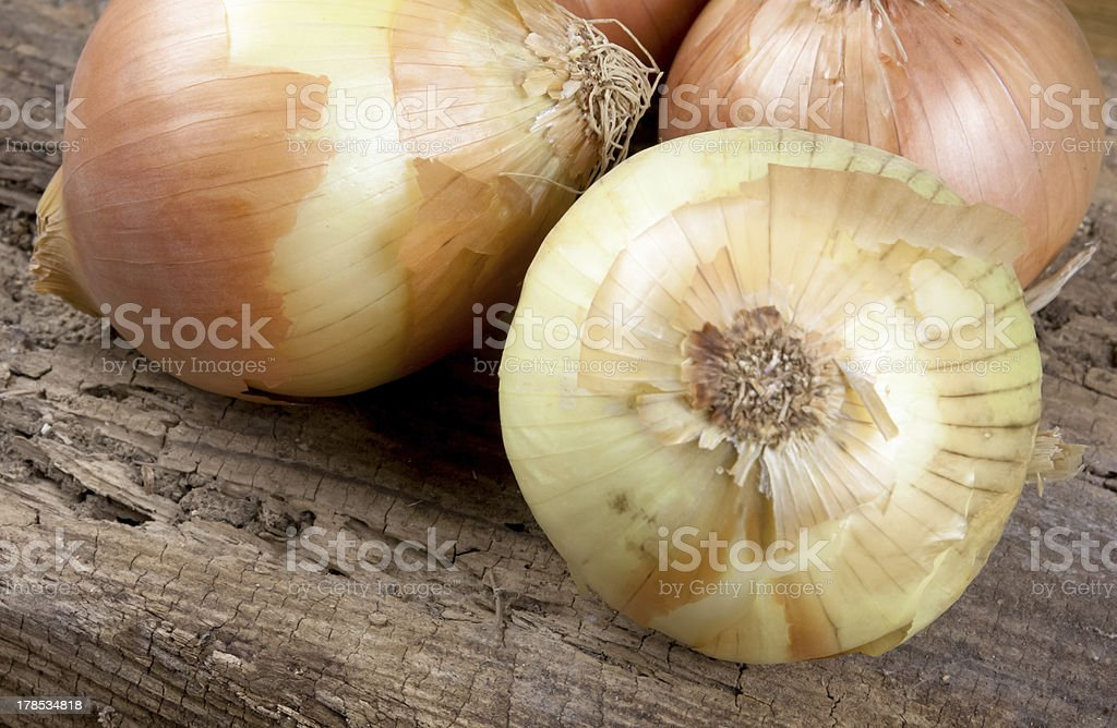 Onions On The Table stock photo