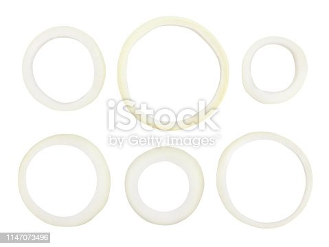 sliced onions path isolated
