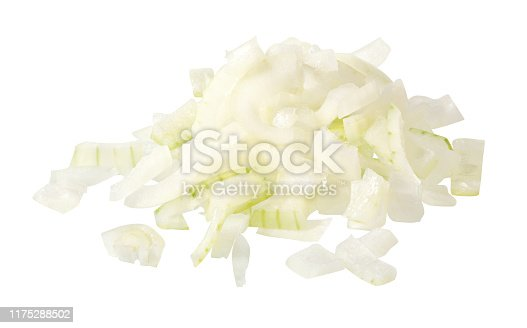 Raw white chopped onions
