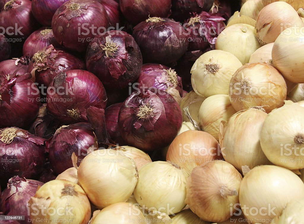 Onions - Red and Yellow Varieties royalty-free stock photo