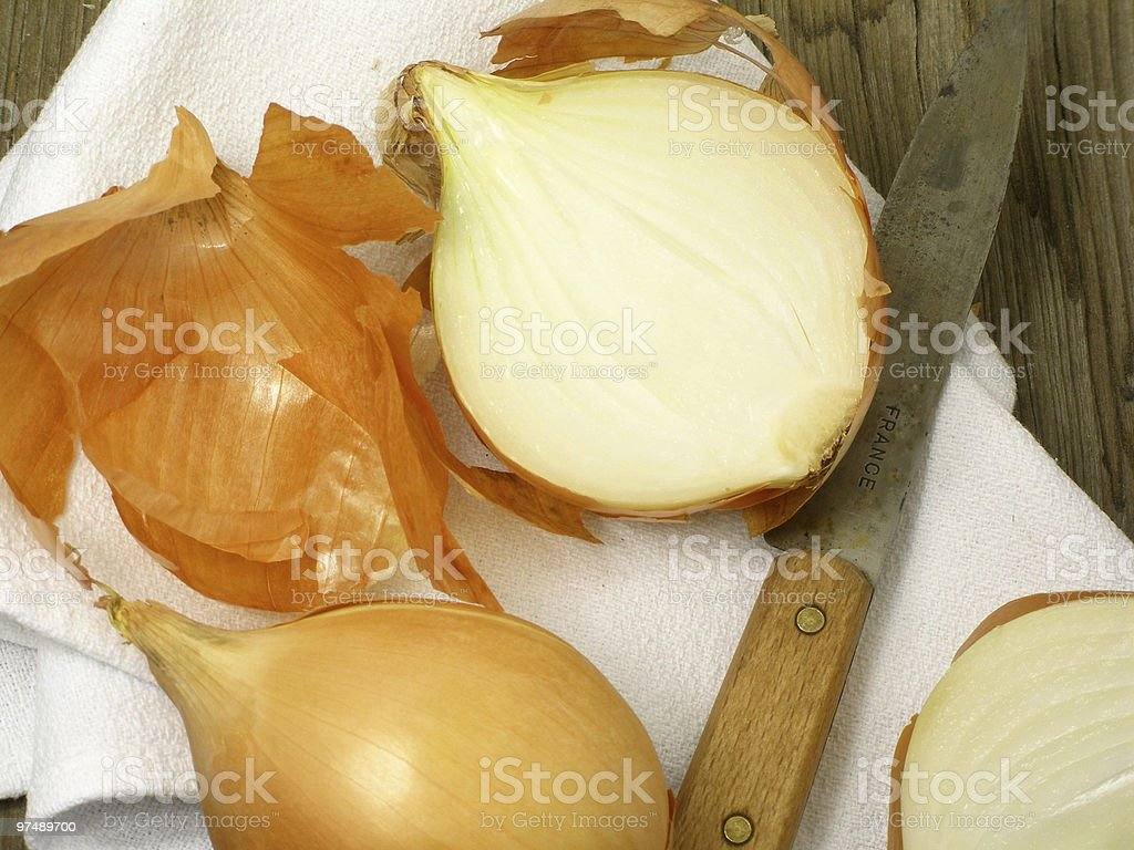 Onions still life royalty-free stock photo