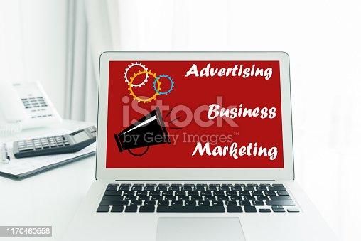 istock Online advertising concept 1170460558