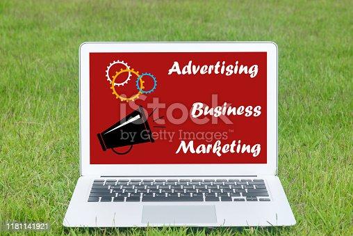 istock Online advertising concept 1181141921