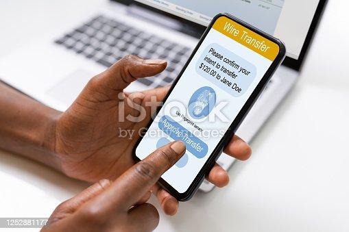 istock Online Bank Ecommerce Money Transfer 1252881177