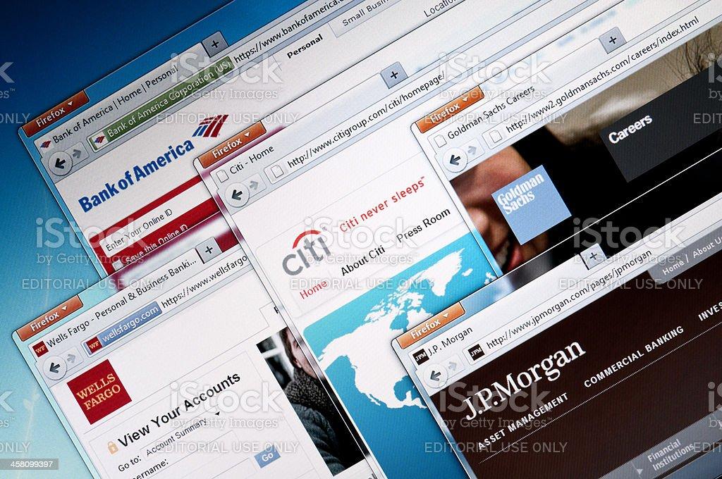 Online Bank web sites. stock photo