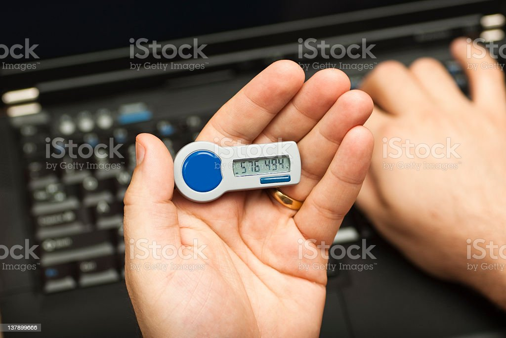 Online Banking access using a two factor authentication stock photo