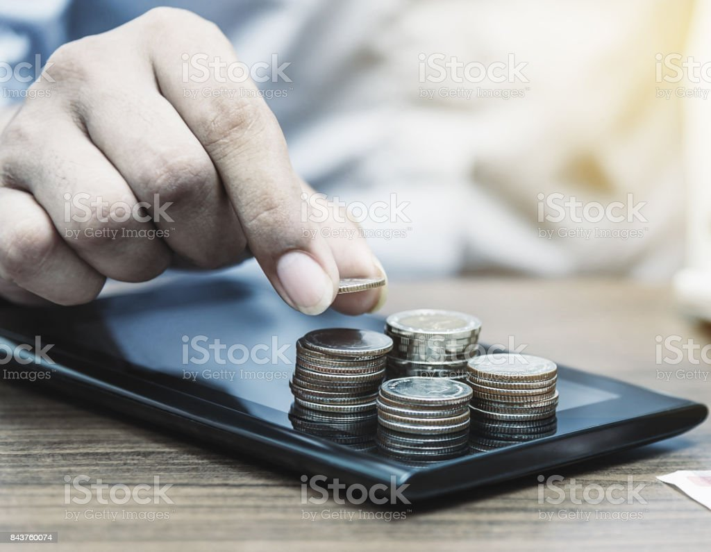 Online banking and internet banking for finance concept royalty-free stock photo