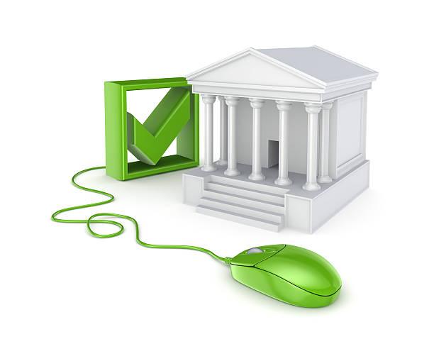 online-banking-konzept. - bankhaken stock-fotos und bilder