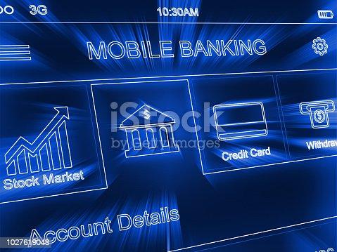 827843530 istock photo Online banking internet e-banking mobile application fintech 1027619048