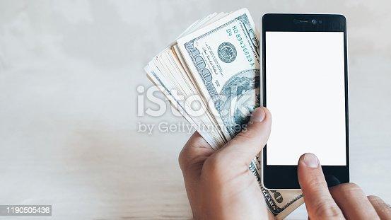 istock online banking mobile app smartphone dollars 1190505436