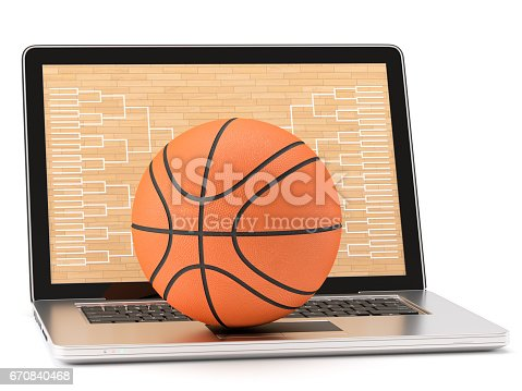 istock Online basketball game 670840468