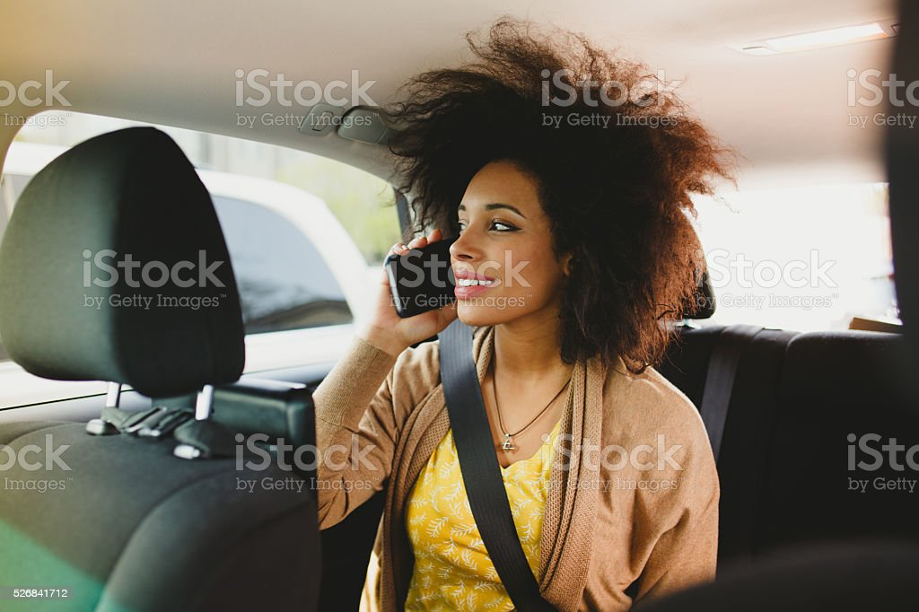Online booking a car stock photo