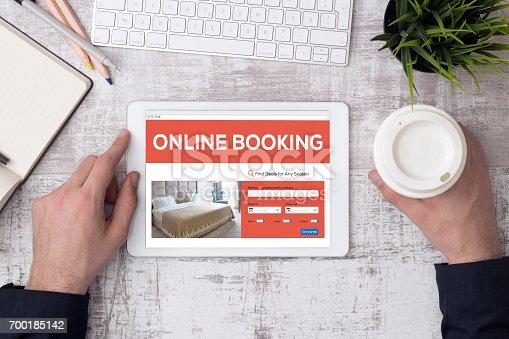 istock Online Booking Concept 700185142