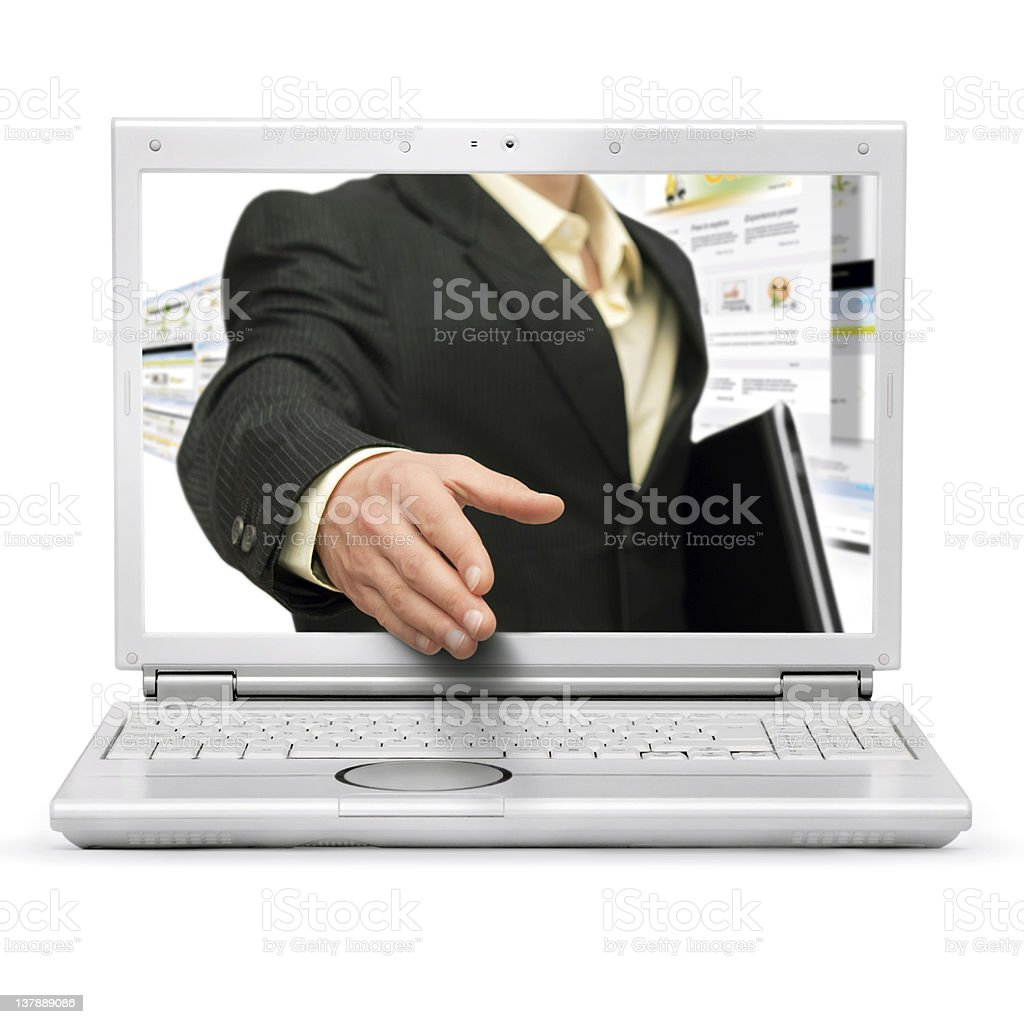 Online business deal royalty-free stock photo
