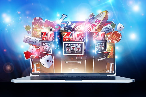 Online Casino Gambling Stock Photo - Download Image Now
