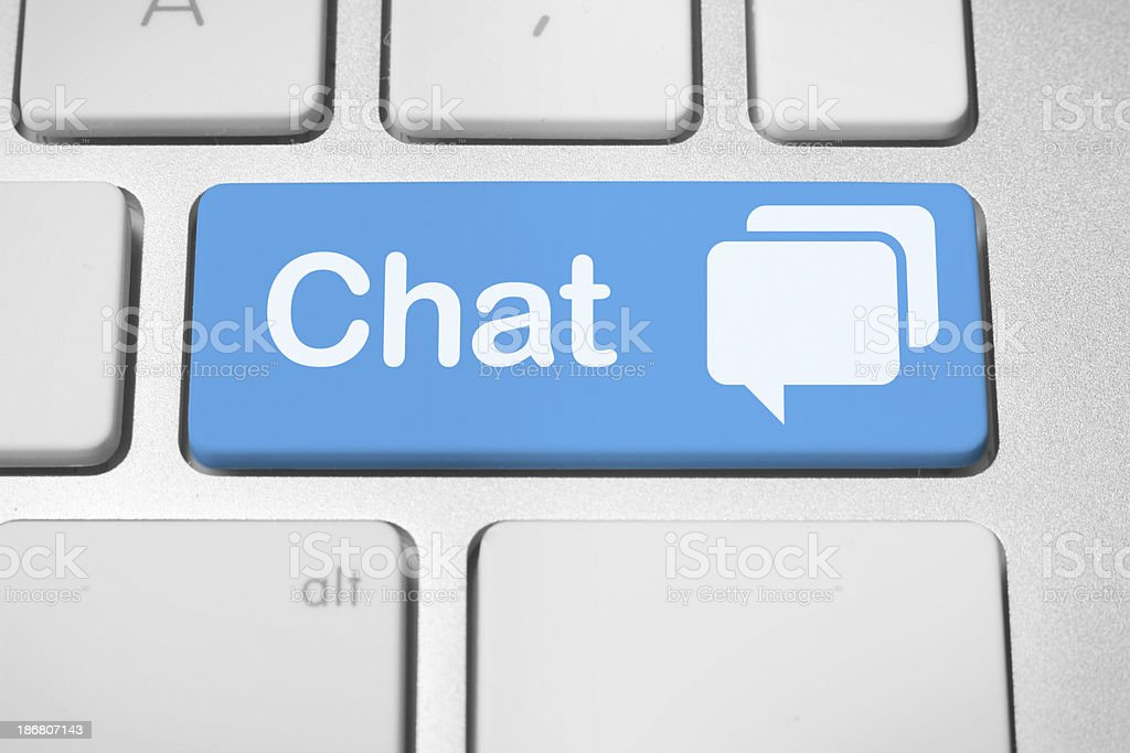 Online chat stock photo