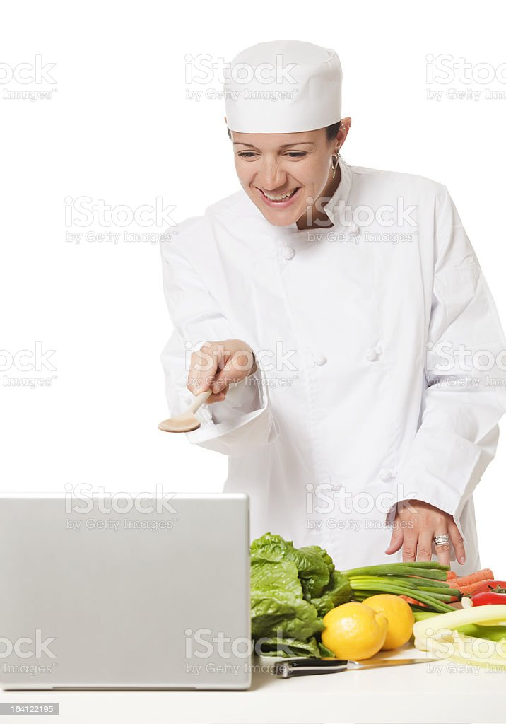 Online Chef royalty-free stock photo