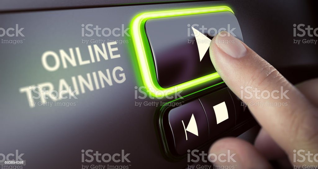 Online Classes and Tutorials Platform stock photo