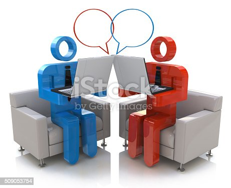 Online communication. Chatting in the design of information related to communication