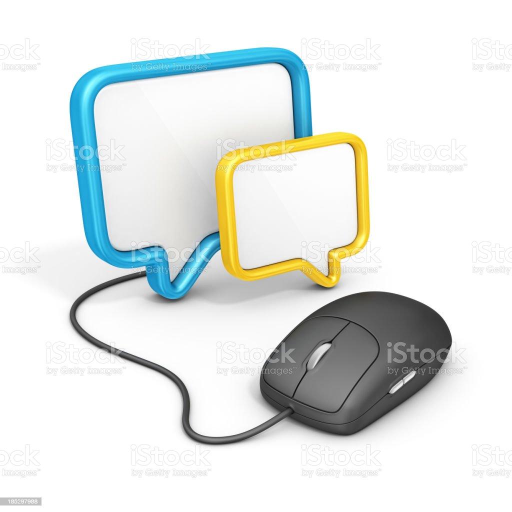 online communication royalty-free stock photo
