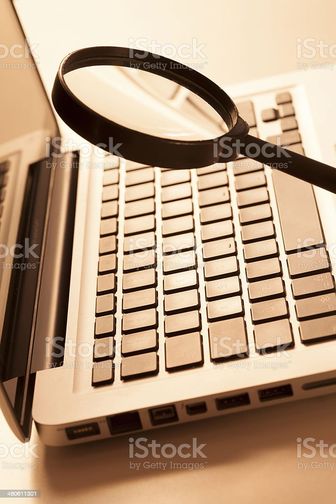 online communications research stock photo