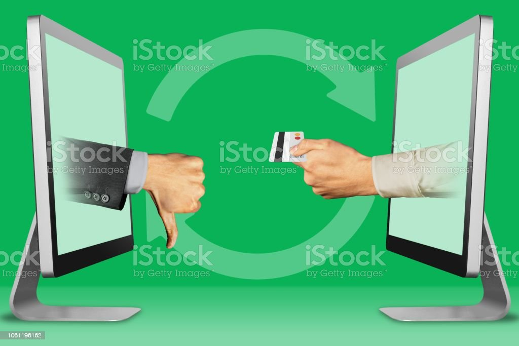 Online Concept Two Hands From Displays Thumbs Down Dislike And Hand