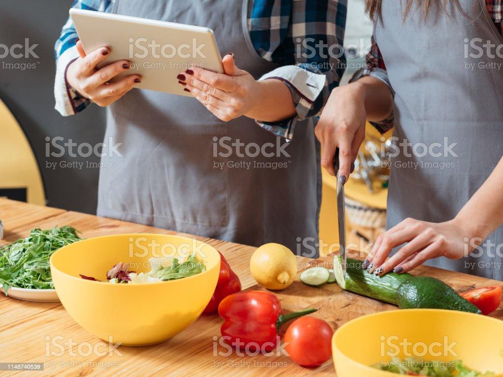 Photo Libre De Droit De Cours De Cuisine En Ligne Vegetarien Diete