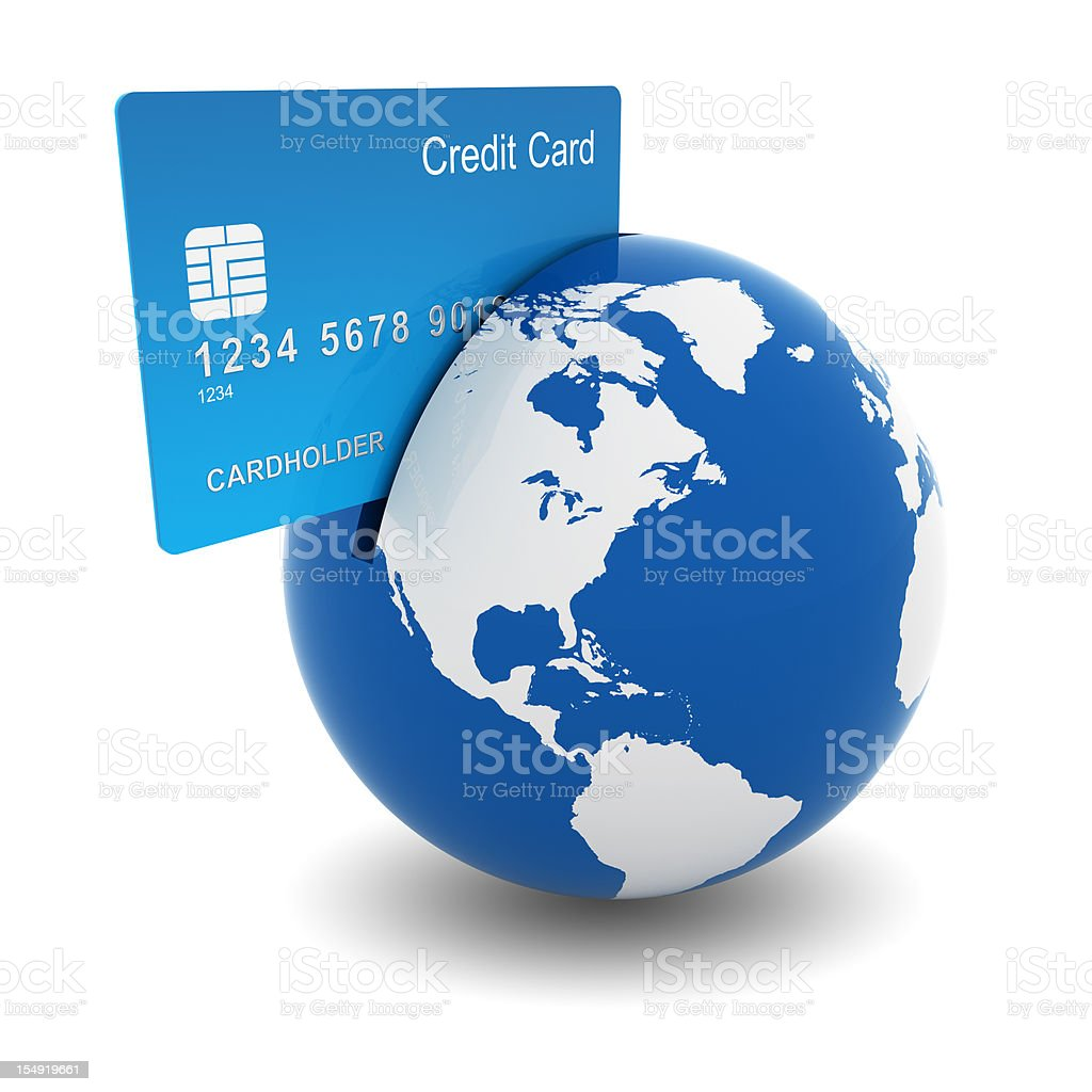 Online Credit Card Purchase royalty-free stock photo
