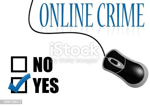 istock Online crime check mark 1056705012