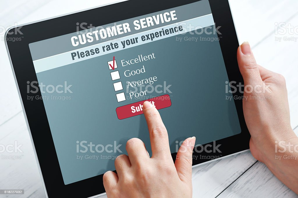 Online customer service stock photo